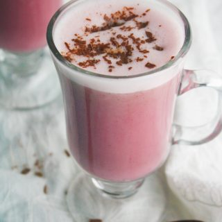 Spiced Beet and Oat Milk Latte is a tasty non-dairy, warming beverage.