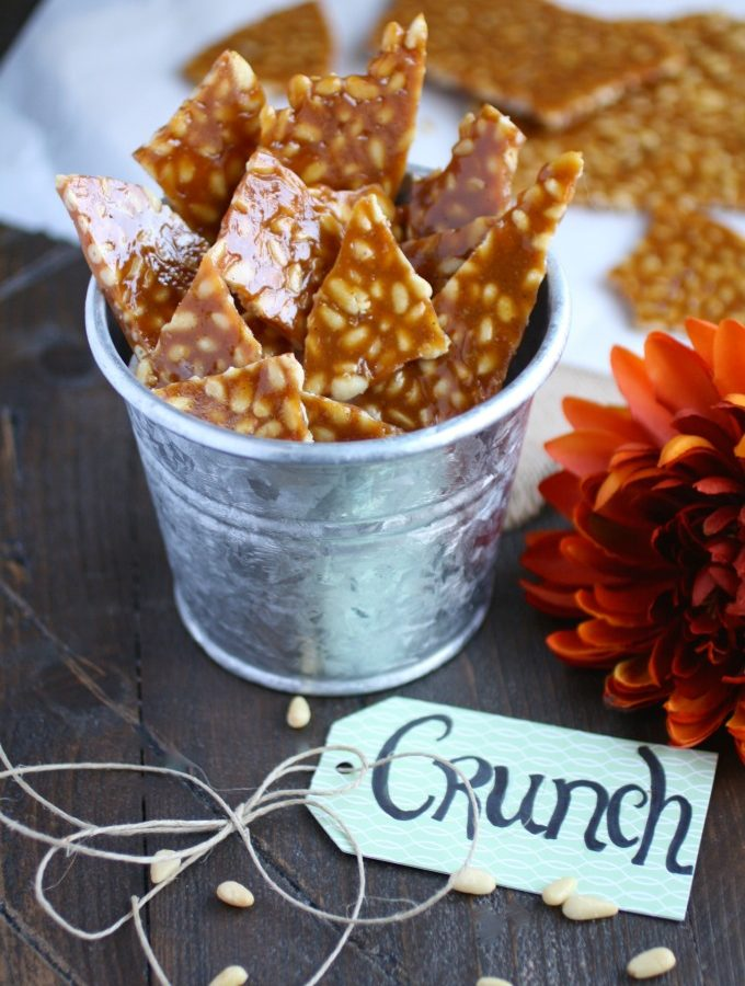 Spicy Pine Nut Brittle