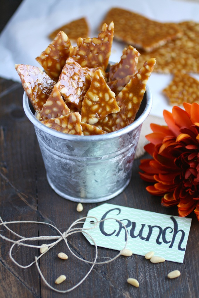 What a treat Spicy Pine Nut Brittle makes!