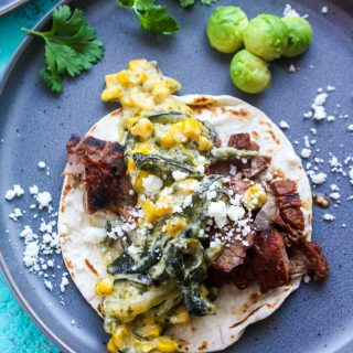 Steak Tacos with Poblano Pepper Strips and Cream Sauce (Rajas con Crema) is a great taco-night option! You'll love these Steak Tacos with Poblano Pepper Strips and Cream Sauce (Rajas con Crema)!