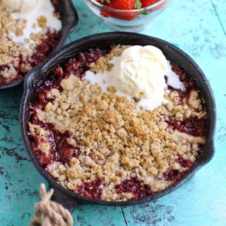 Strawberry-Rhubarb Crumble for Two makes a special treat that's easy to make!