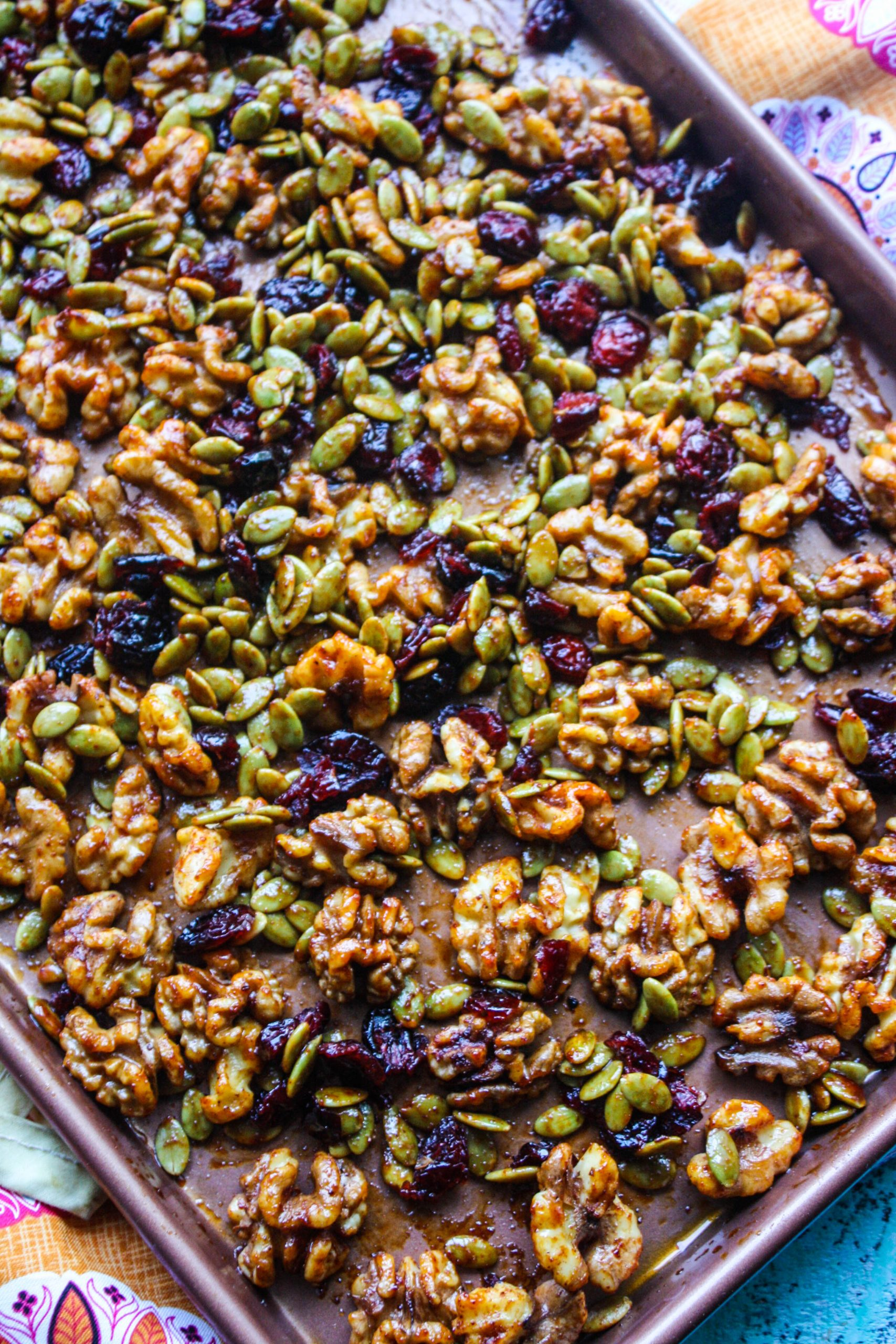 Sweet, Spicy & Citrus Roasted Walnut Mix is a great snack for any time of day (or night)!