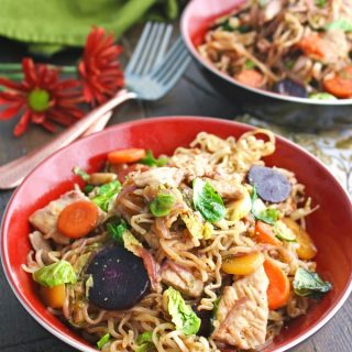 Try a bowl of Turkey Stir-Fry with Noodles in Chili-Orange Sauce -- it makes a great meal for Thanksgiving -- it's classic with a twist!