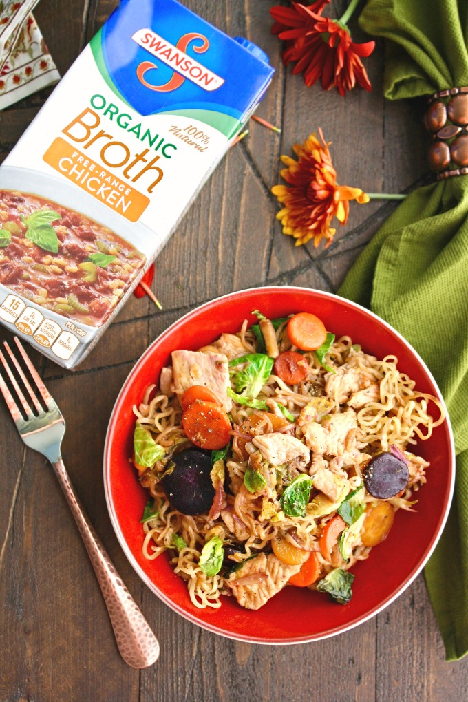 Shake things up this year: Turkey Stir-Fry with Noodles in Chili-Orange Sauce makes a great classic-with-a-twist Thanksgiving meal!