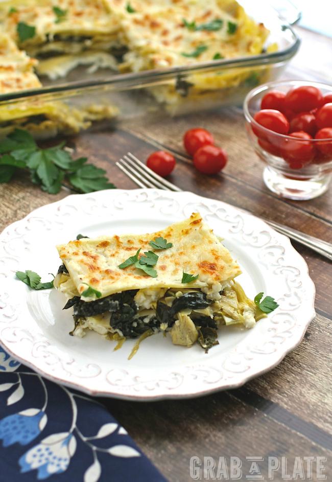 Dig into a fab, flavorful lasagna: Spinach, Artichoke and Kale Lasagna