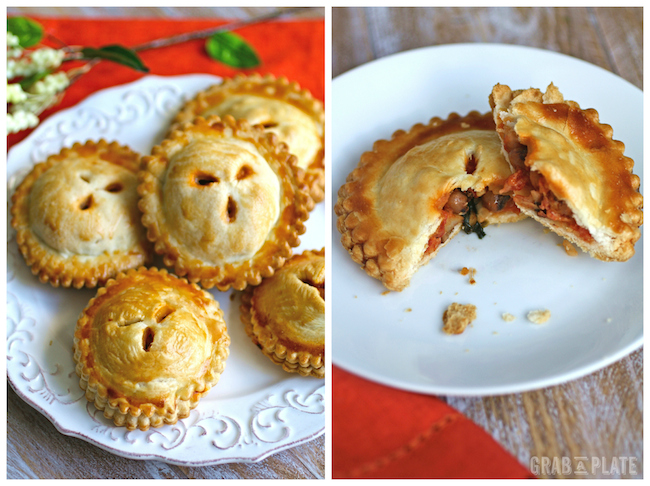 Serve Black-eyed Peas, Spinach, and Creamy Tomato Hand Pies