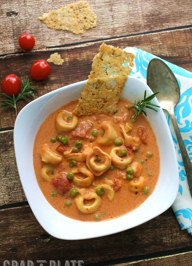 Serve a hearty and flavorful soup: Creamy Tomato and Tortellini Soup with Parmesan Sticks