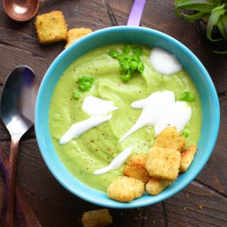 Warm Avocado and Pea Soup is like springtime in a bowl! You'll love Warm Avocado and Pea Soup for your next meal.