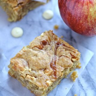 Perfect for the fall season: Caramel Apple and White Chocolate Chip Blondies!