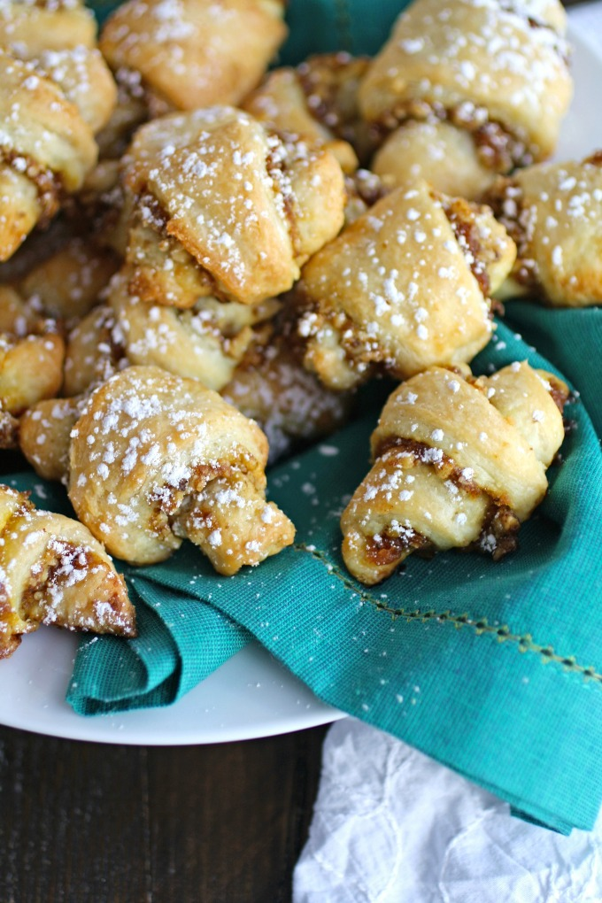 Pumpkin and Walnut Rugelach Cookies are rich and special!