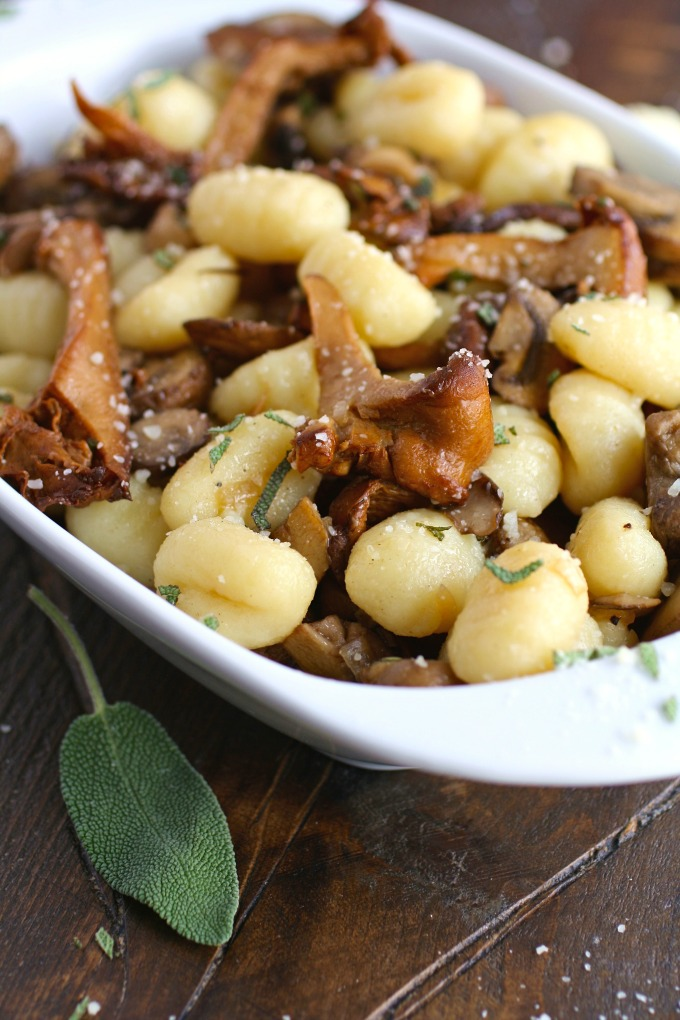For a fabulous meatless meal, serve Gnocchi with Sage and Sautéed Mushrooms!