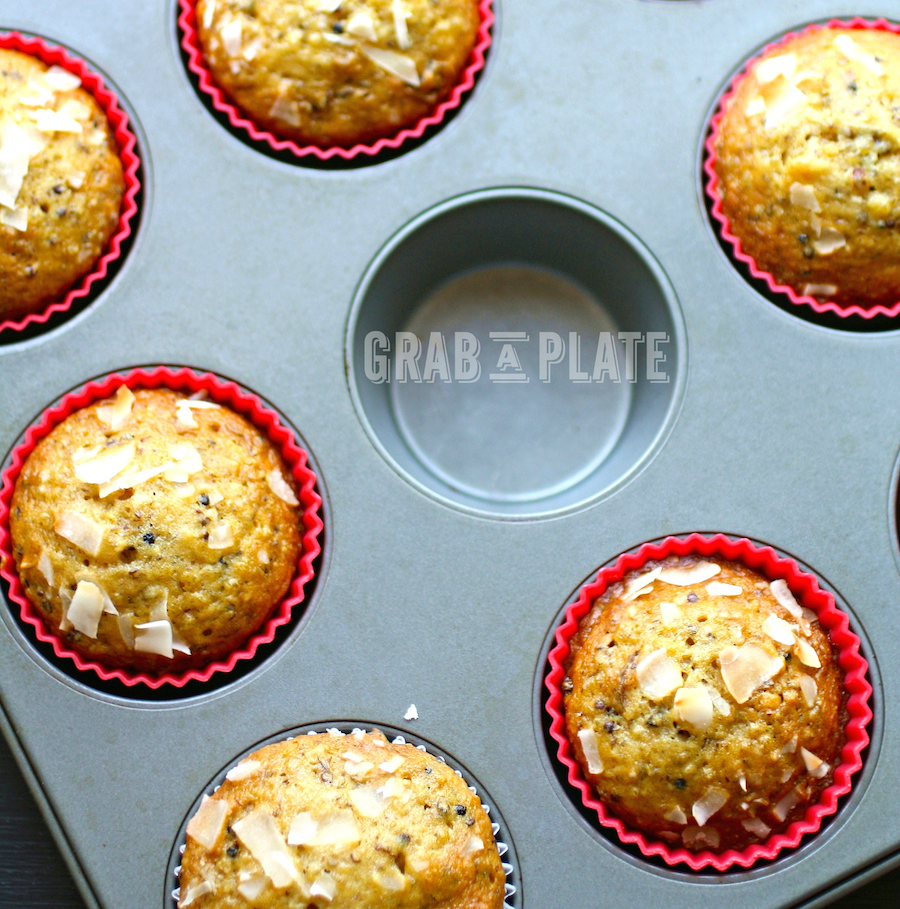 Get 'em straight from the tin - Quinoa, Coconut and Date Muffins