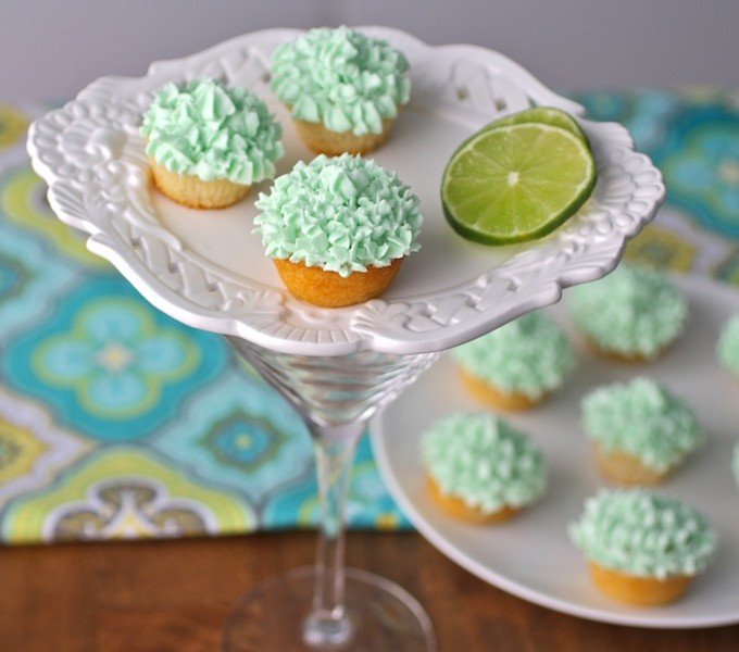Mini Lime Cupcakes with Tequila Buttercream (Vegan Recipe)