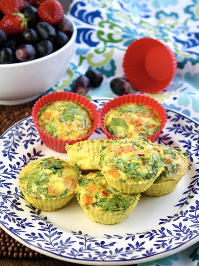 Curried Sweet Potato-Spinach Egg Muffin Cups are perfect for any meal of the day. They'll disappear quickly!
