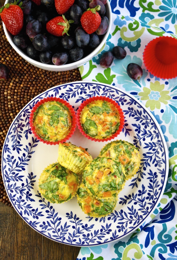 Curried Sweet Potato-Spinach Egg Muffin Cups are a fun addition to any meal. You'll love the flavors!