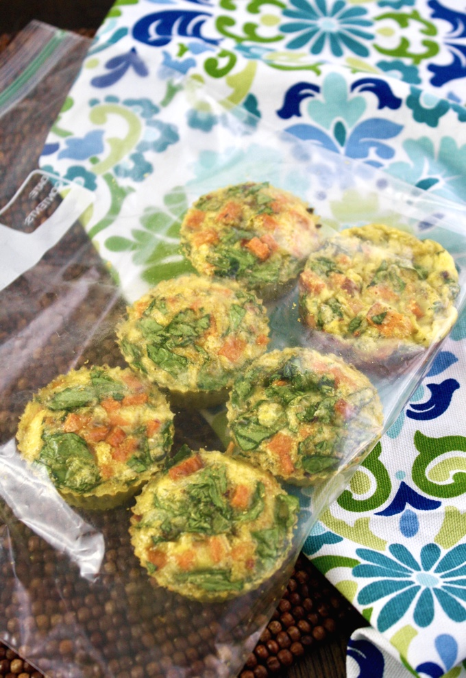 Curried Sweet Potato-Spinach Egg Muffin Cups are fun to make and serve! Perfect as a grab-and-go dish!