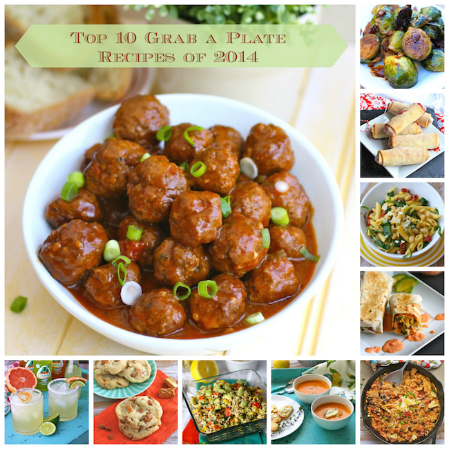 Top 10 Grab a Plate Recipes of 2014