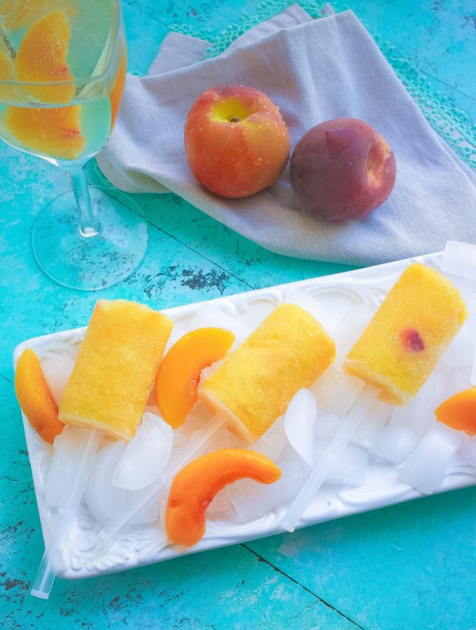 Frozen Peach Bellini Push Pops