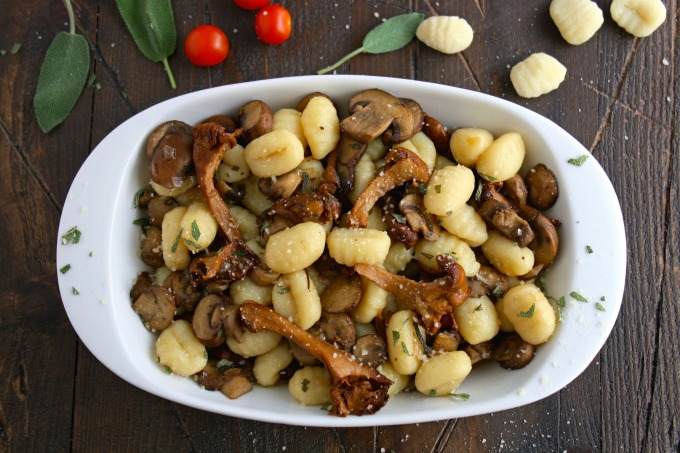 Mushrooms add to the flavor and heartiness of Gnocchi with Sage and Sautéed Mushrooms. So easy to make!