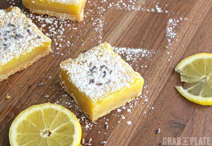 Lemon Squares with Lavender & Limoncello make a fabulous dessert!