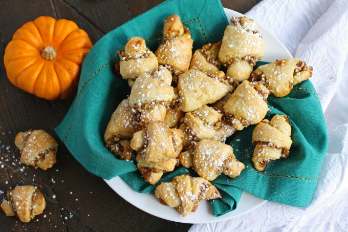 Pumpkin and Walnut Rugelach Cookies are perfect for any special occasion!