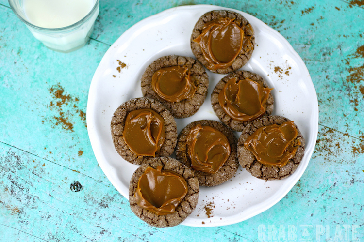 A little spice is nice, like in these Chocolate-Chili Thumbprint Cookies with Dulce de Leche