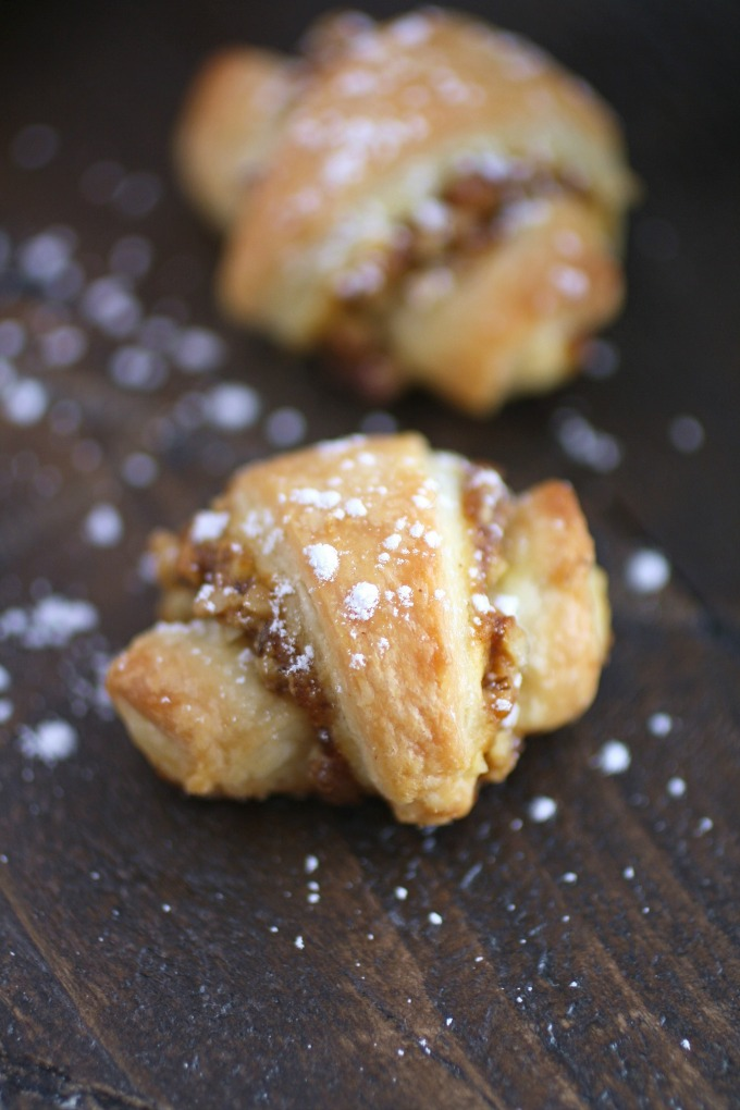 Whether you make them small, medium, or large, Pumpkin and Walnut Rugelach Cookies taste amazing!