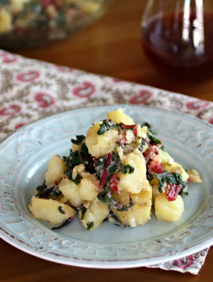Italian Potato Salad with Swiss Chard