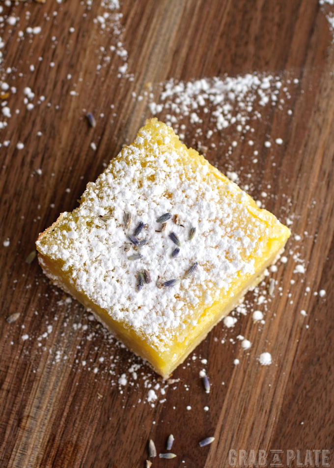 Lemon Squares with Lavender & Limoncello are a citrusy treat!