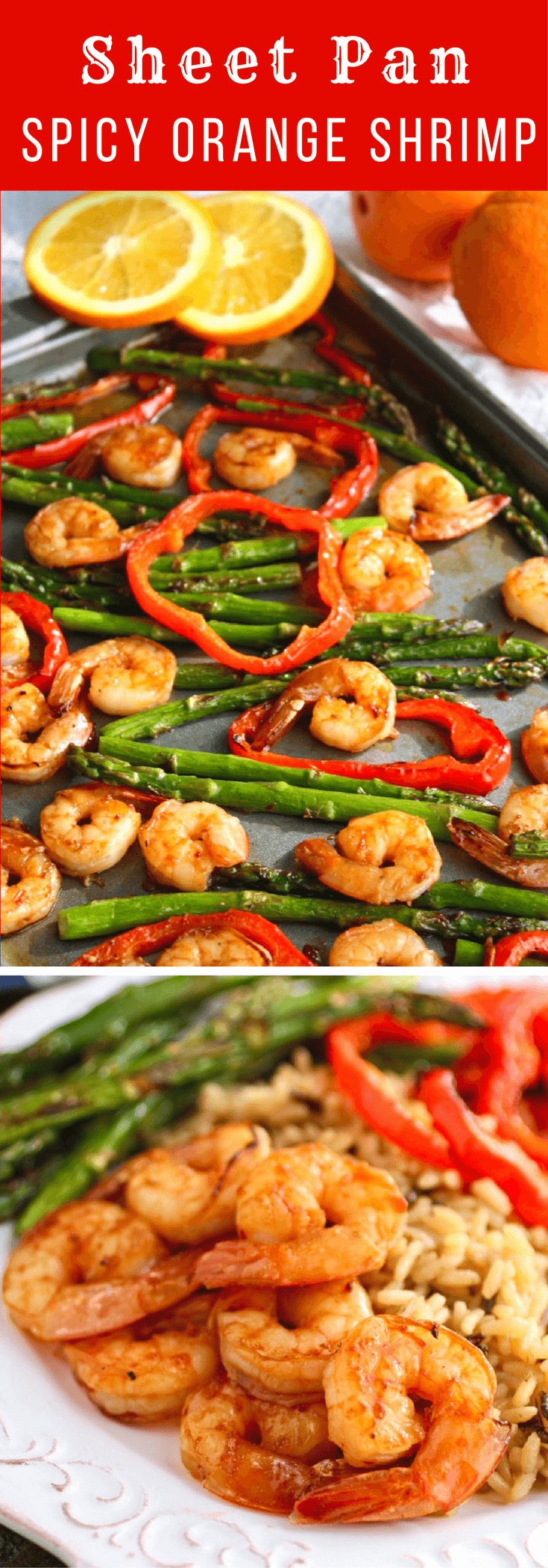Sheet Pan Spicy Orange Shrimp with Vegetables is a treat for any night of the week. The colors and flavors are fab!
