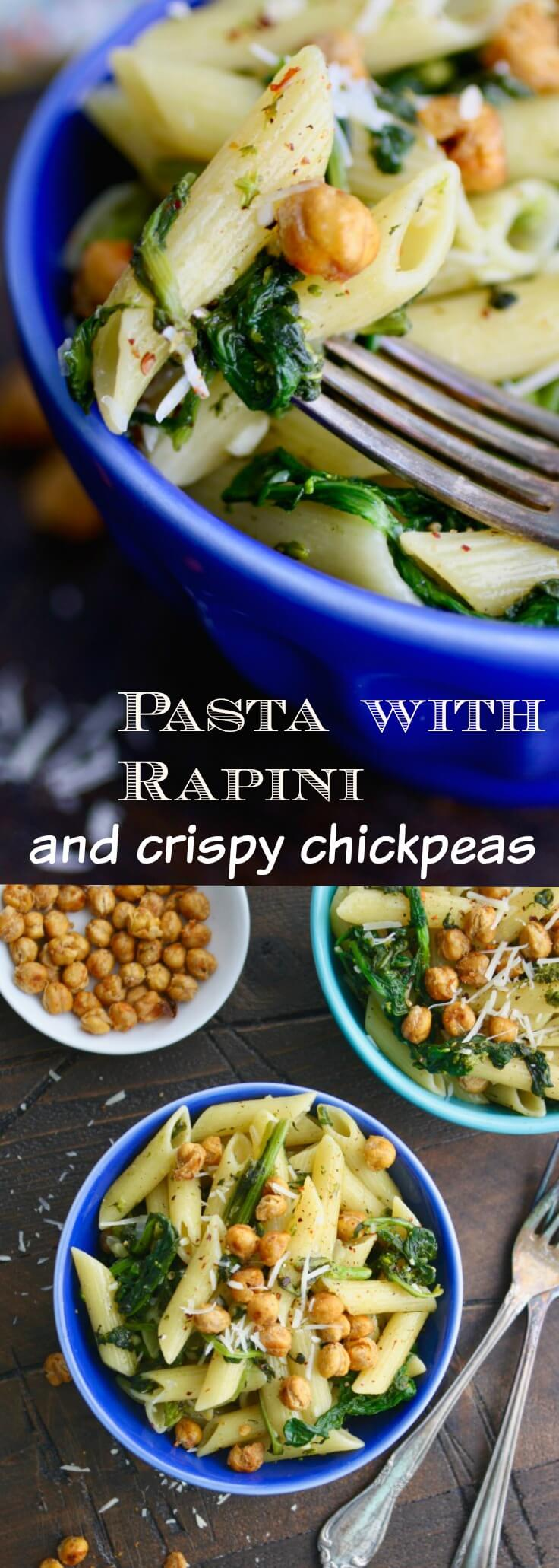 Your next meal could be fabulous! Try this recipe for Pasta with Rapini and Crispy Chickpeas!
