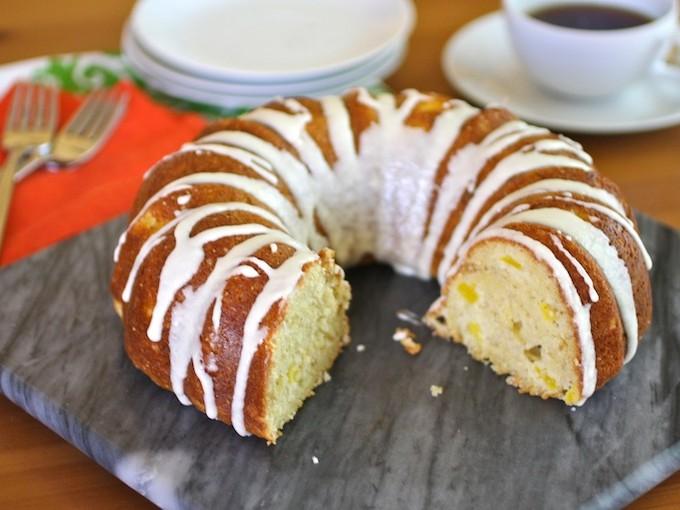Glazed Mango, Ginger and Chia Seed Cake