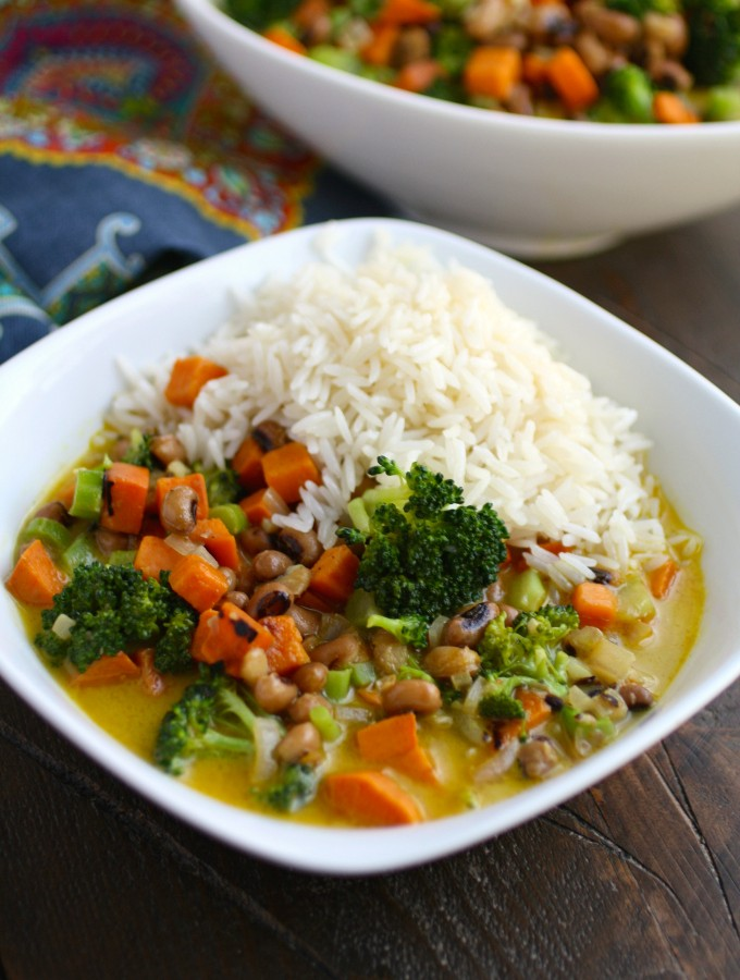 Sweet Potato & Black-Eyed Pea Curry is a fabulous Meatless Monday meal!
