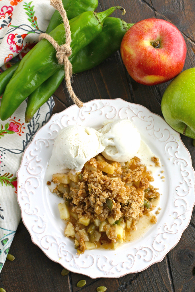 A plateful of a delicious dessert is always welcome! Enjoy Apple and Hatch Chile Crisp while you can get your hands on these flavorful chiles!