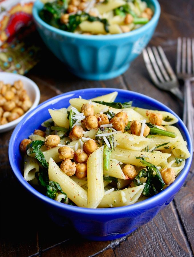 Pasta with Rapini and Crispy Chickpeas