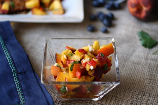 Sweet-and-spicy peach salsa