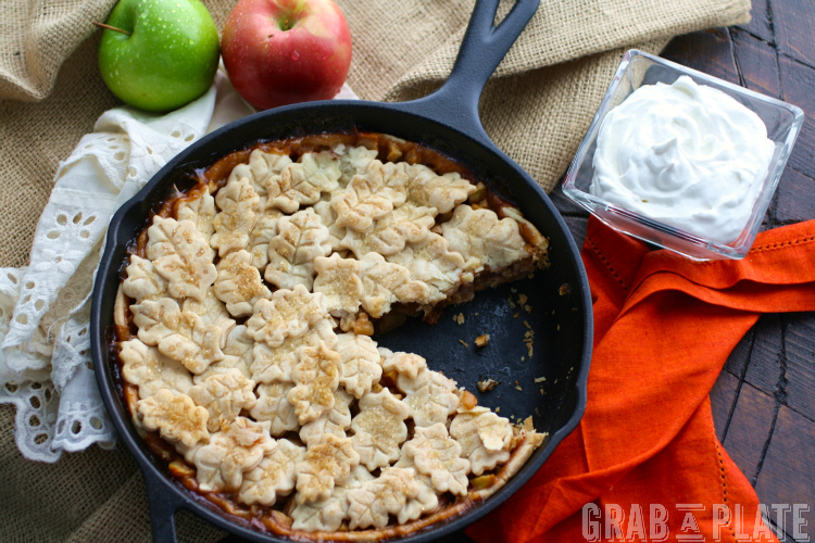 You'll want more than one slice of Skillet Apple Pie with Salted Caramel Whipped Topping!