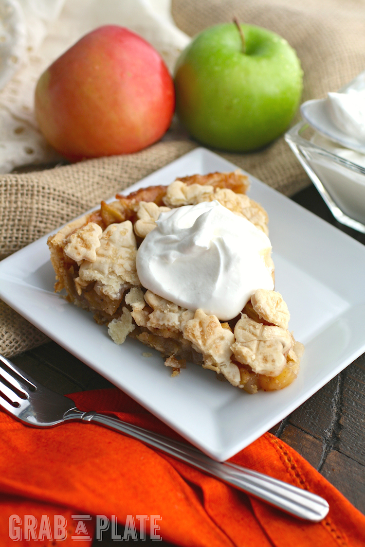 Enjoy a slice (or two!) of this Skillet Apple Pie with Salted Caramel Whipped Topping!