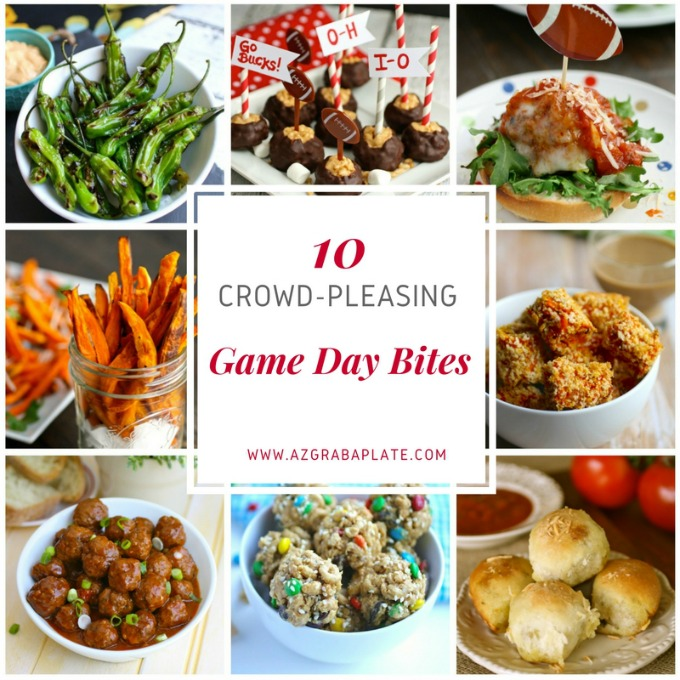 10 Crowd-Pleasing Game Day Bites are perfect for any crowd! Easy to make, easy to eat!