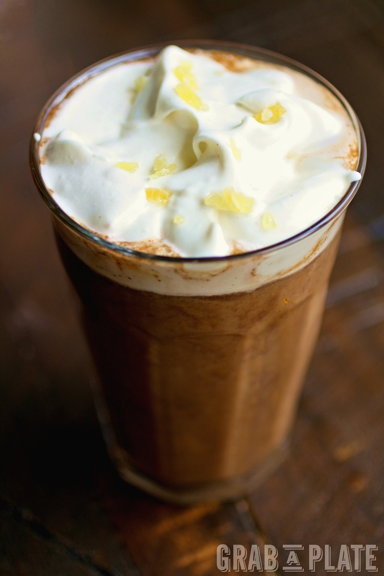 Pumpkin Mochas with Ginger Whipped Topping are a delight any time of day!