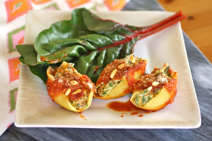 Go dairy-free on a Meatless Monday! Try Swiss Chard and Tofu Stuffed Shells for a tasty meal!